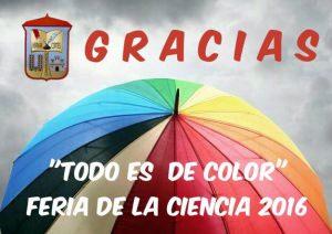 Gracias Feria de la Ciencia CEIP Hernan Cortes