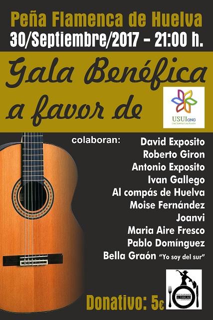 Gala Solidaria Benefica Peña Flamenca de Huelva Ong usui