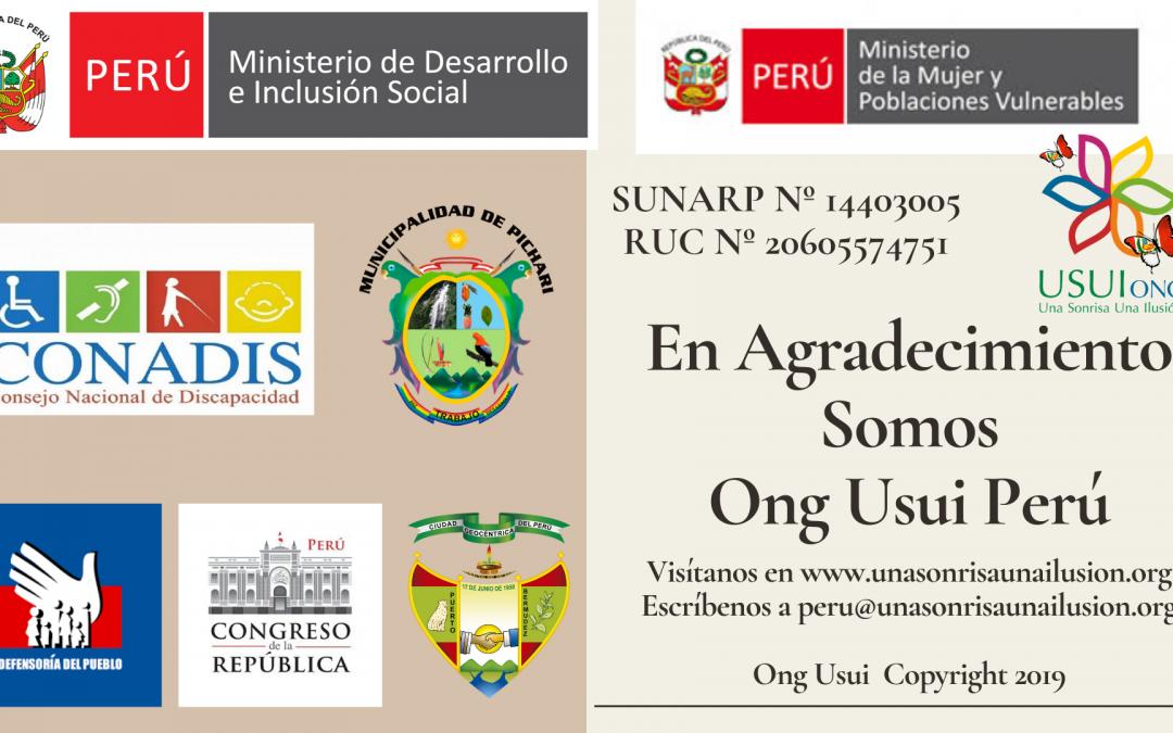Ong Usui Peru. Fusión etnias y culturas discapacitadas