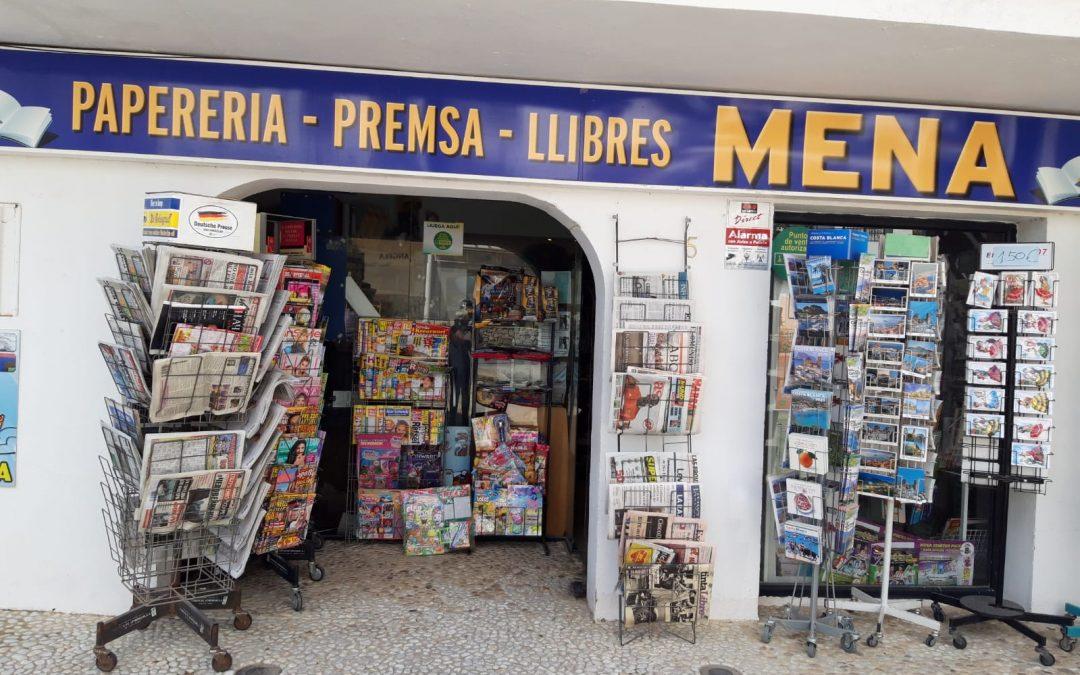 Papeleria, Libros, Prensa Mena. Altea la Vella. Alicante